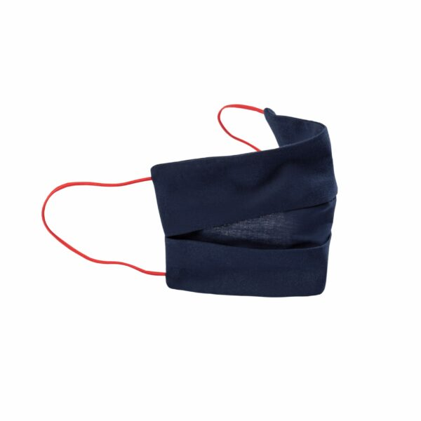 Inntal-Maske Navy-Blau mit roten Bändern