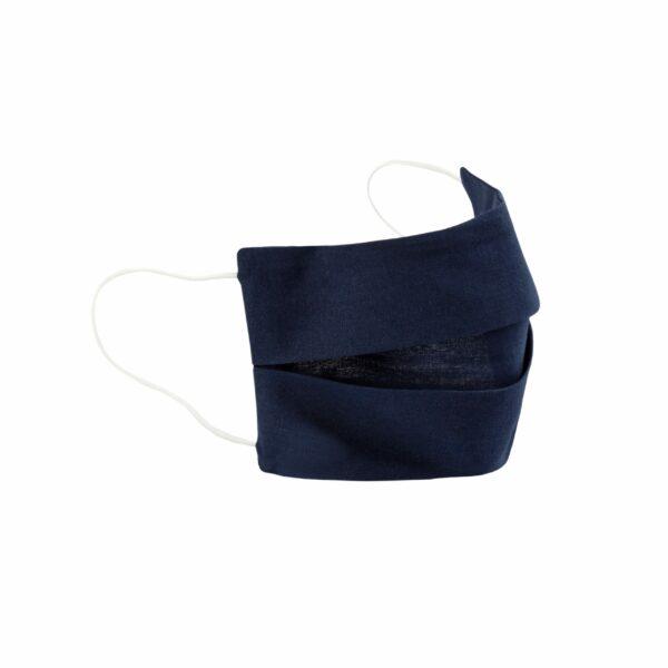 Inntal-Maske Navy-Blau mit weißen Bändern